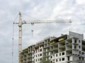 Hoogbouw gebouw in aanbouw — Stockfoto