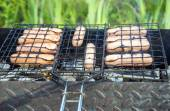 Summer outside barbecue — Photo