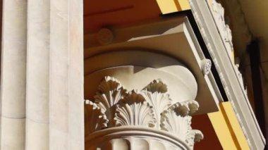 Beautiful capital of column — Stock Video