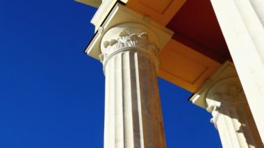 Classic theater building columns — Stock Video