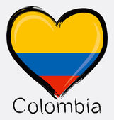 Love Colombia Grunge Flag — Stock Vector