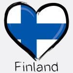 Love Finland grunge flag — Stock Vector #55265035