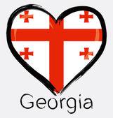 Love Georgia flag — Stock Vector