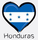 Love Honduras grunge flag — 图库矢量图片