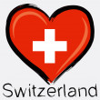 Love Switzerland grunge flag — Stock Vector #55316963