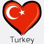 Love brush turkey flag — Stock Vector #55316991