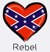 Love brush grunge rebel flag — Stock Vector