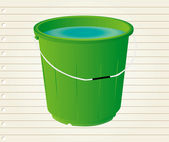 Bucket with on paper — Stockvektor