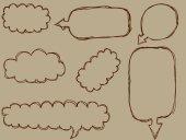 Sketchy bubble speech — Stock Vector