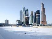 Veduta invernale della città di Mosca — Foto Stock