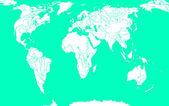 Stylizovaná mapa světa — Stock fotografie