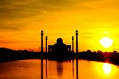 Central Mosque under sunset Songkhla — Stock Photo