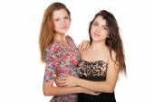 Beautiful young women and their friendship — Stockfoto