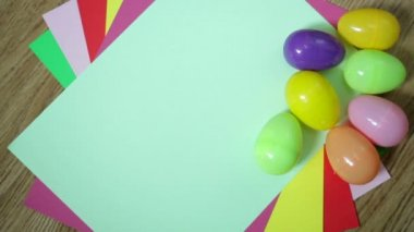 Nice colorful background with Easter eggs — Stock Video