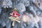 Vintage weihnachten und neujahr urlaub-hintergrund — Stockfoto