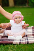 Beautiful five month old baby girl  — Stock Photo