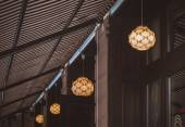 Idea concept with light bulbs on a underview background  — Foto de Stock