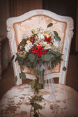 Fall bridal bouquet of flowers — Stock Photo