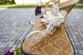 Element of the decor a little bike — Stock Photo