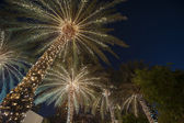 Christmas background palm tree — Stock Photo