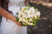 婚礼花束白玫瑰 — 图库照片