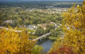 Autumn landscape, view of the city from a height, the city Svjat — Foto de Stock