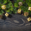 Holiday New Year's and Christmas background from branches fir de — Stock Photo #55537199