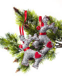 Christmas decorations background for congratulation cards and de — Стоковое фото