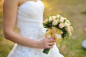 Wedding Bouquet of White Roses  — Stock Photo