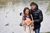 Happy Young Couple on Valentine's Day  — Stock Photo