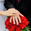 Hands of bride and groom — Stock Photo #57397843