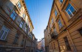 Narrow street of Lviv — Stock Photo