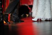 Shoes the bride and groom — Stock Photo