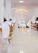 Ornament of white candlestick burning — Foto de Stock