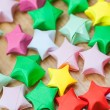 Colorful origami lucky stars. Close-up — Stock Photo #59916149