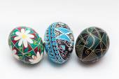 Colorful traditional Russian Ester Eggs — 图库照片