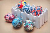 Easter eggs painting handmade — 图库照片