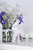 Decor flowers in the pot — Stock Photo