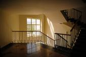 Window and staircase in the lobby — Stockfoto
