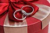 Wedding two rings close up — Stock Photo