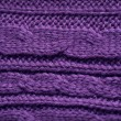 Texture of knitted garments purple — Stock Photo #65049125