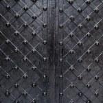 Metallic texture black elements of the old door — Stock Photo #65543737