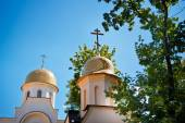 Dome of the Orthodox Church against the sky — Stock Photo