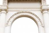 Ancient arch isolated on white background — Stock Photo