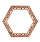 Beautiful hexagonal frame isolated on a white background — Stock Photo