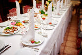 Served wedding table wedding banquet — Stock Photo