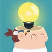 Businessman get the idea — Stock Vector