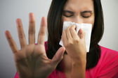 Flu cold or allergy symptom — Stock Photo