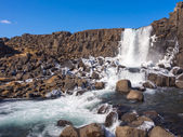 Cascading Waterfall at Thingvellir National Park — Stock Photo