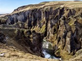 Glacial canyon iceland — Stock Photo